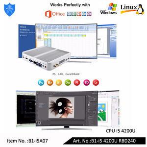 Intel Core i5 4200U RAM 8G SSD 240G Hyper-Threading, Virtualization technology, 64 bit computing Mini PC