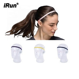 IRun NON-SLIP SILICONE GRIP high-intensity activities slim headbands sports sweatbands firmly in place during sweaty