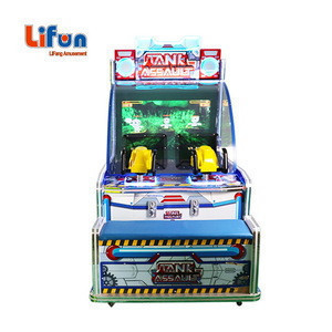 Kids Indoor Amusement Centre 2 Players Coin Operated Redemption Tickets Arcade Game Ball Shooting Machine For Sale