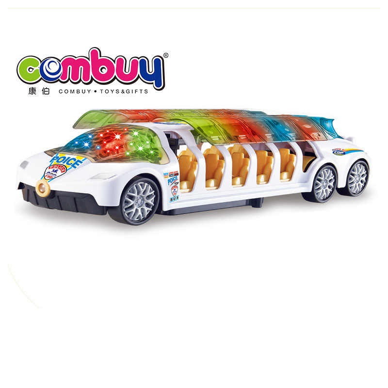 New product battery operated plastic big bus toy with 4d light