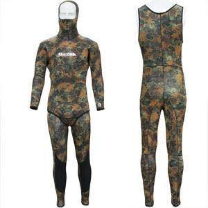 Plus Size Mens Hoodies Neoprene Printing Wetsuit With Long John