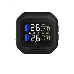 Rechargeable LCD Display wireless tire pressure monitor with internal sensor