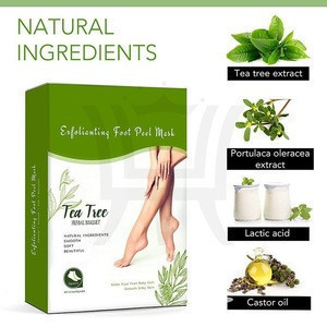 Wholesale OEM/ODM Exfoliating Foot Peel Mask Tea Tree Remove Dead Skin Cuticles Heel Foot Care Pedicure Private Label