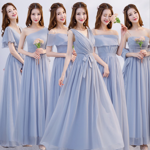 Wholesale wedding sisters dress long chiffon bridesmaid dress