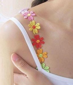 WIIPU Wholesale Bra Straps Decorative Shoulder Flower Replacement Underwear Intimate Accessories