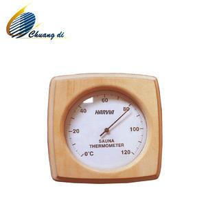 Wood made sauna room Thermometer