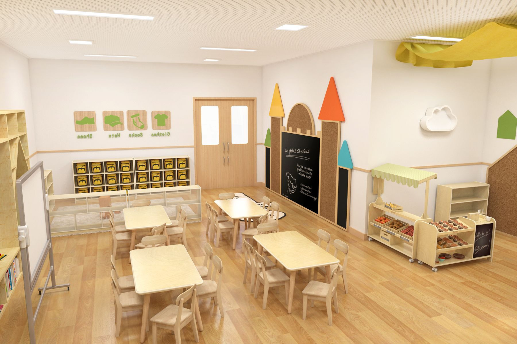 Economical Durable Kindergarten Kiddie Furniture Saudi Arabia Pre School  Daycare Furniture Sets Guangzhou Supply