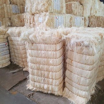 100% Natural white sisal fibre