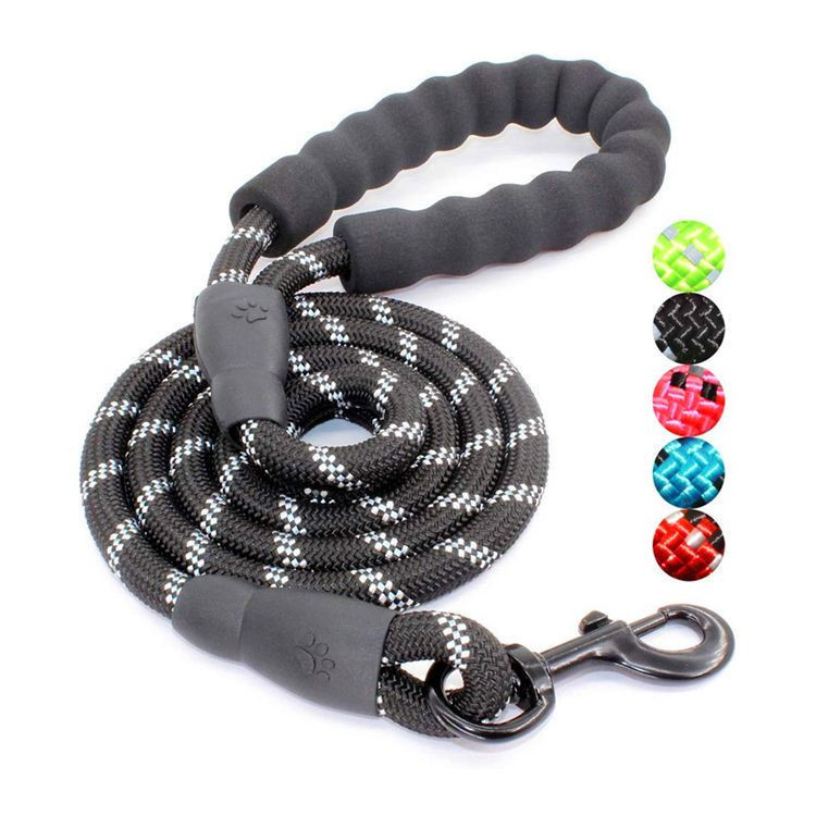 Highly Strong Reflective Nylon Rope Pet Dog Leash with Comfortable Padded Handle Dog Leash Threads Dog Leashes