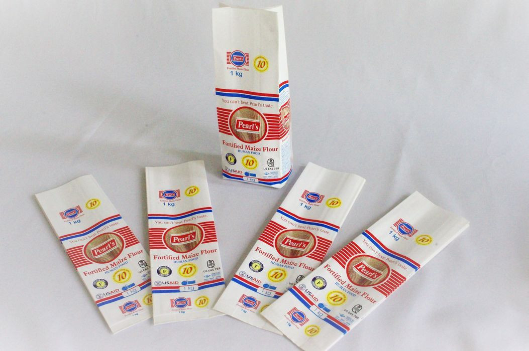 Wheat flour, rice powder packaging paper laminated side gusset pouch