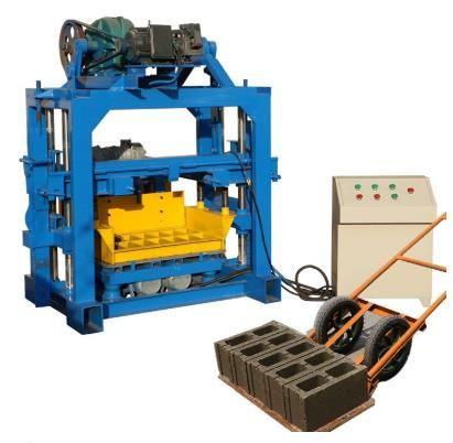 Manual small concrete cement simple block brick making machine for small scale home industries