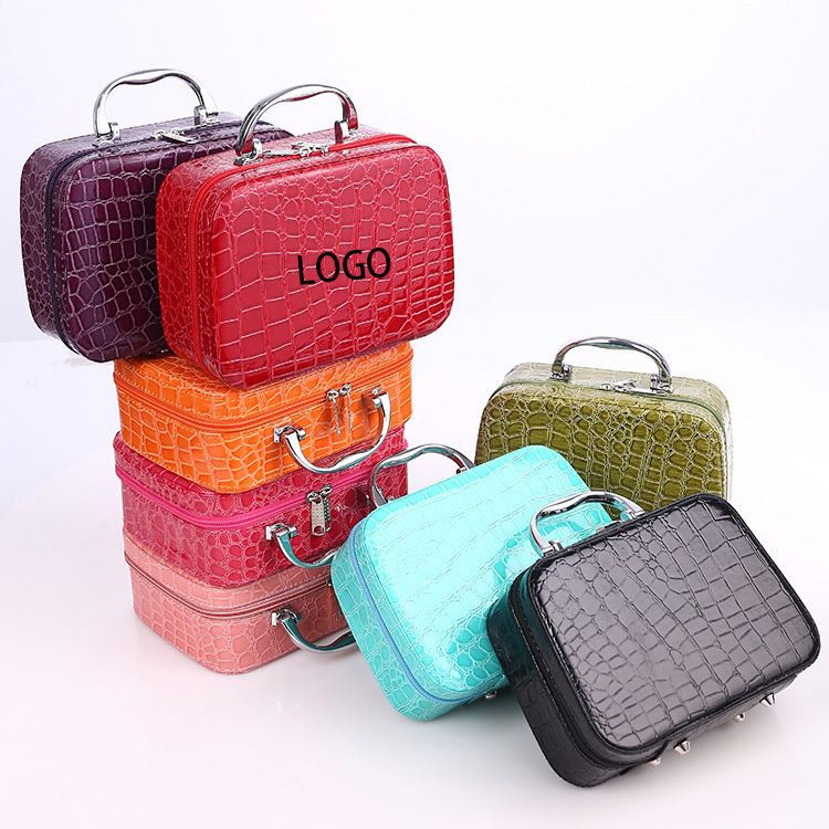 Square Zipper Portable Cosmetics Bag