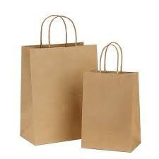 Custom Logo Print Eco-friendly Square Bottom Brown Kraft Paper Vegetables Fruits Grocery Bags For Supermarket