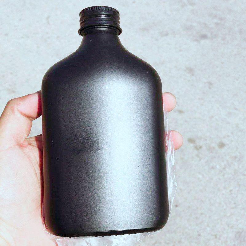 Black cold brew coffee glass bottle