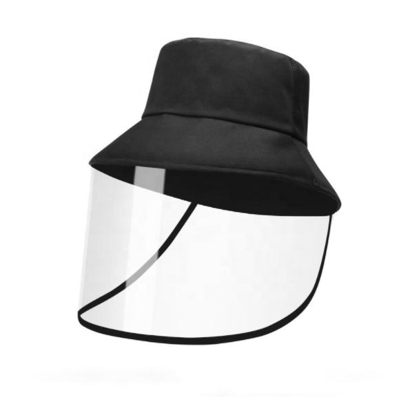 Unisex Breathable Cotton Bucket Hat with Anti Spitting Saliva Face Shield