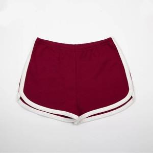 2019 Fashion Side Stripe Wholesales 100% Cotton High Quality Running Summer Womens Yoga Shorts