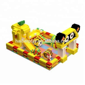 2019 hot sale indoor playground building blocks for kids