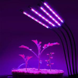 360 degree 80pcs leds 4 Arms Dimmable Led Plant Growth Light  Flexible Desk Clip Plant Grow Led Light