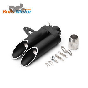 370mm  Universal Aluminium alloy TOCEs style exhaust pipe muffle motorcycle parts for akrapovics/ktms/hondas