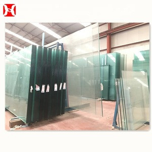 8mm 15mm 19mm toughen large panel sheet float safety tempered thick slab glass
