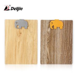 A4/a5 clipboard folder paper clip board small magnet bamboo texture notebook clipboard