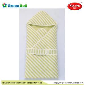 Adjustable 100% cotton pink swaddle blanket infant baby wrap sleeping bag