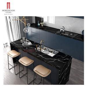 Apartment artificial marble calacatta black quartz stone slab