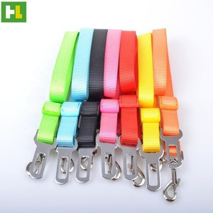 Basic Collars Collar Type and Nylon Material Pet Car Travel Safe Seat Belt for sale