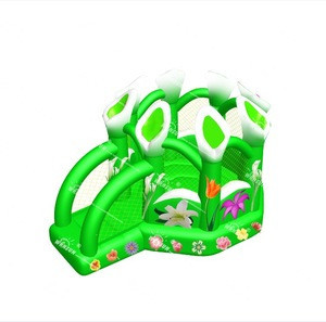Beautiful inflatable flower air bouncer, moon castle bouncer jumping inflatable for kids
