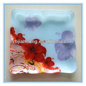 Bright-coloured Flower Korean Dinnerware For Sushi