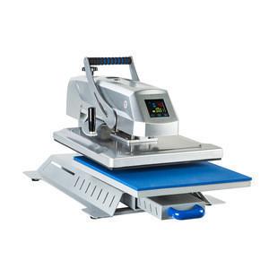 Cheap 40 x 60 big size flat badge heat different color digital press transfer printing machine