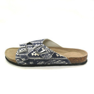 Cheap Wholesale Women Canvas Used Cork Sandals Shoes in China