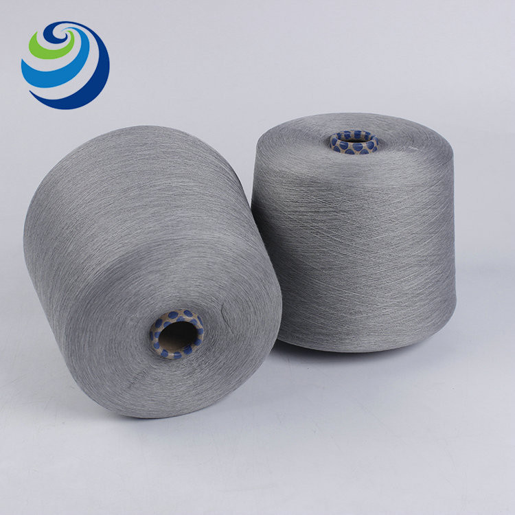 China graphene products cheap antistatic 50% graphene nylon fiber 50% rayon 40s graphene blended spun yarn 40s