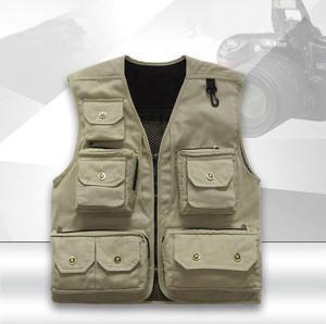 China Manufacturer Low Price  Multi-pocket  Fishing Sports Jacket vest