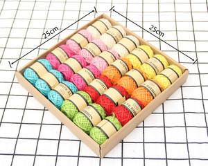 Colorful jute twine yellow Color Jute Yarn for sale