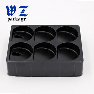 Custom Blister Chocolate tray black PS Packaging food Tray