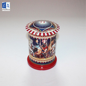 Custom Decorative Metal Storage Creative Tin Music Box