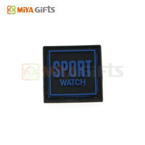 Custom size soft silicone clothing brand trademark embossed rubber cloth label