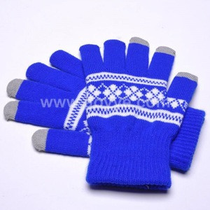 Fashion supplier hot sale smart phone multicolor knitting touch screen gloves