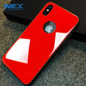 For apple iphone 8 Plus case colorful tpu pc tempered glass cover back shell 7 7plus mobile phone cases cover