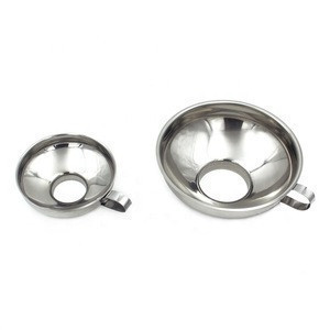 For Regular and Wide Mouth Jars Canning Funnel With Handle Stainless Steel Kitchen Funnel