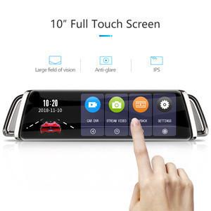 Full hd 1296P car black box 10inch IPS screen dash cam 170 degree car driving recorder