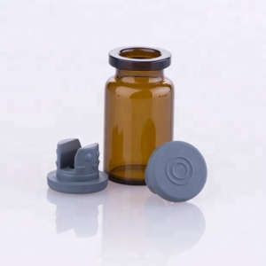 Good quality 13mm 20mm bromo chloro butyl rubber stopper silicon rubber stopper with flip off caps for injection vials