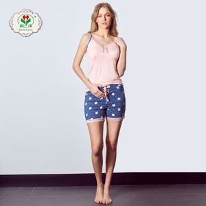 High quality branded retail girls sexy nightwear, ladies nightwear pajama