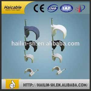 High quality electrical wire square and circle nail cable clips CHR-3MM
