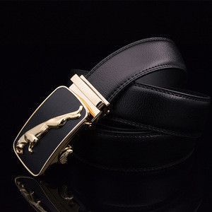 High QualityMen Genuine Leather Belts  Male Brand Automatic Ratchet Buckle Belt