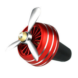 HJV Car Perfume Air Freshener Mini Fan Auto Air Vent Clip Fan Metal Outlet Car Fans