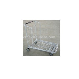 Hot Warehouse Flat luggage trolley Cart with brake