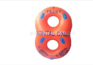 Inflatable big 8 words swimming ring,lovers swimming ring