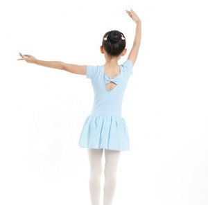 JW Children Dancewear Short Sleeve Ballet Leotards with Skirt